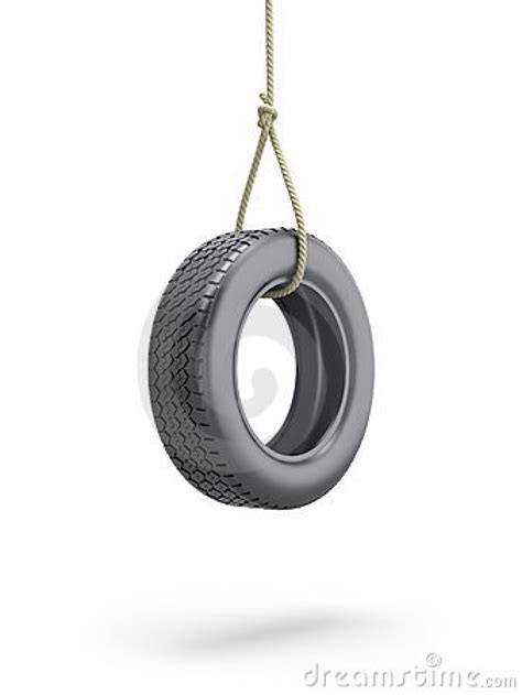 tire swing tab tire swing 3d illustration stock photography image
