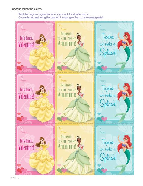 printable disney cards disney princess valentine cards disney family
