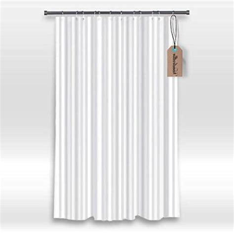 Hotel Fabric Shower Curtain Liner White Tonal Stripe Mildew