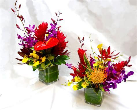 tropical flower arrangements centerpieces tropical arrangements a special touch florists serving lahaina and west with quality