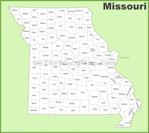 missouri county map missouri county map