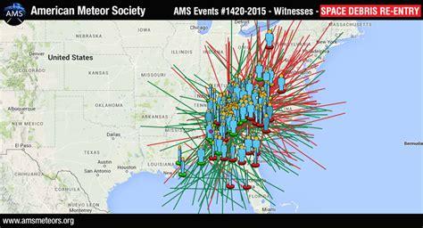 space junk map possible space debris reentry seen american