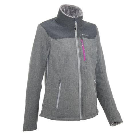 Jaket Polar Quechua 4 forclaz 300 warm s softshell jacket black grey