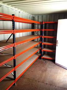 shipping container shelving and racking for sale