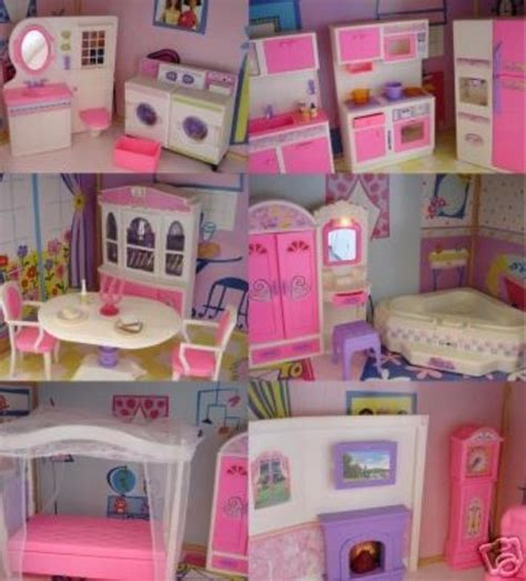 my size doll house new barbie size doll house dollhouse furniture 5 rooms 111 pc lights and sounds ebay