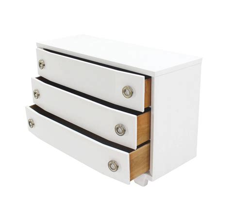 mid century 3 drawer dresser white lacquer mid century modern three drawer dresser for