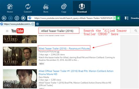 Allied Search Allied Teaser Trailer 2016 Free Downloader