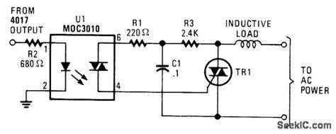 inductive load circuit inductive load triac switch basic circuit circuit diagram seekic