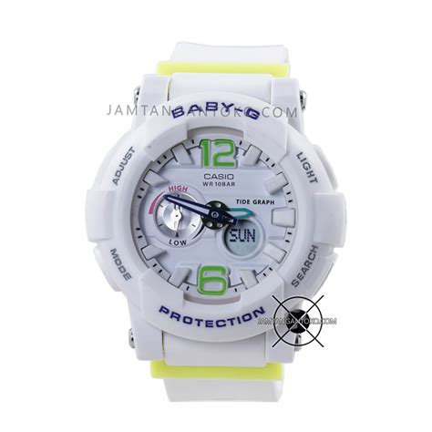 Jam Baby G Bga 180 List Hijau Murah Premium harga sarap jam tangan baby g bga 180 7b2 putih hijau