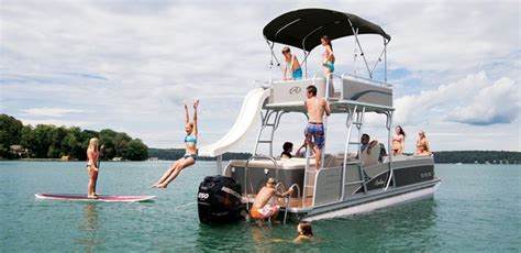 pontoon party boat with slide double decker pontoon boat with slide paradise funship