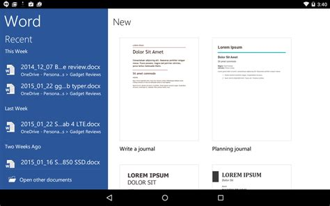 microsoft word office for android microsoft finally brings tablet optimized office apps to android somegadgetguy