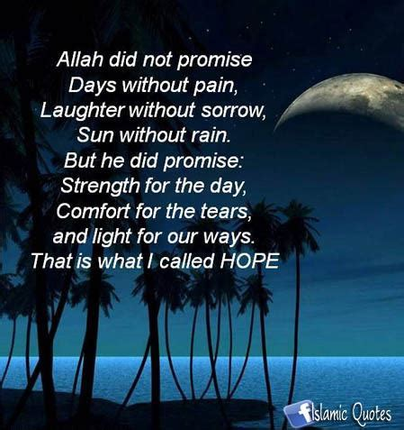 islamic words of comfort lovely wallpapers and quotes hope for the best