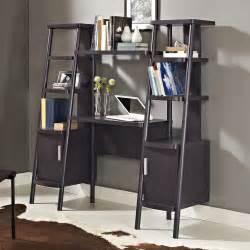 Ladder Desk And Bookcase Altra Espresso Ladder Bookcase Towers With Desk 9807096