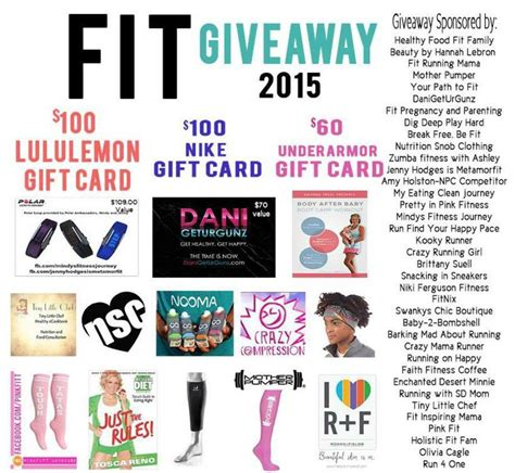 Awesome Giveaways - fit giveaway 2015 awesome prizes my eating clean journey