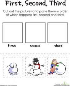 winter first grade patterns worksheets second third