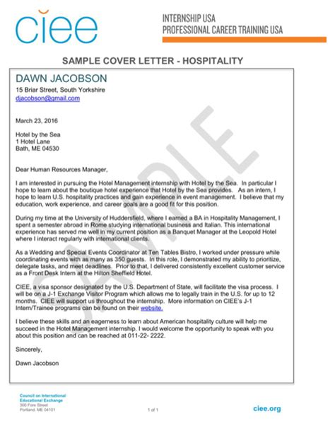 cover letter hospitality hospitality resume templates for free formtemplate