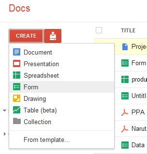 membuat google docs form membuat formulir online dengan google docs rikymetall s