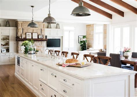 traditional kitchens with islands light and airy kitchen farmhouse with custom kitchen