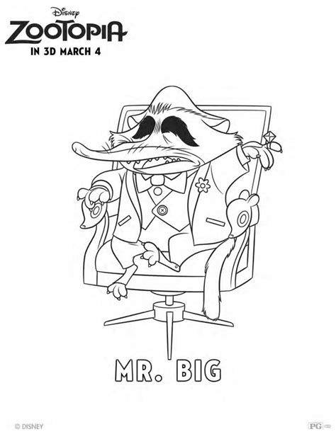 disney coloring pages zootopia free disney zootopia mr big coloring page mama likes this
