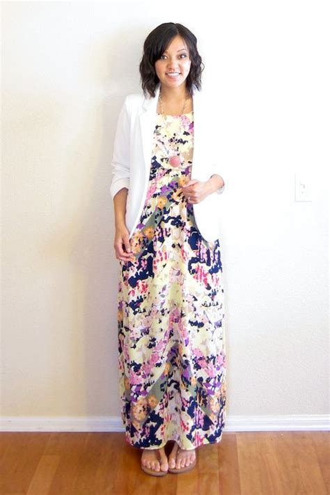 Maxi Blazer Flowery Gr90785 floral maxi i would normally wear a cardi something like this but a blazer could be