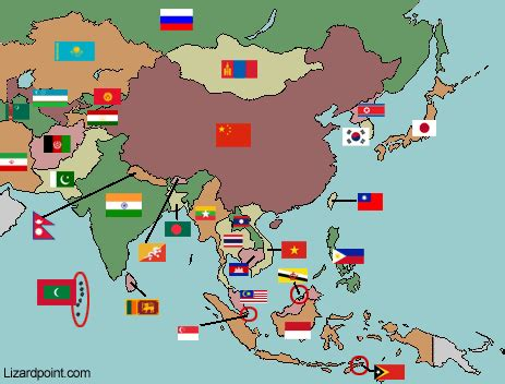 middle east map lizard point asia flags printable flags