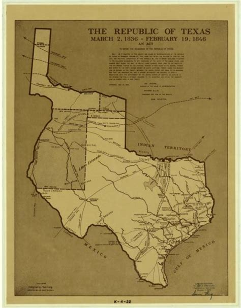 texas 1836 map republic of texas texas an education