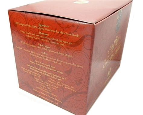 Glucogen 1 Box 25 Sachet 1 box of organo gold king of coffee box 25 sachets