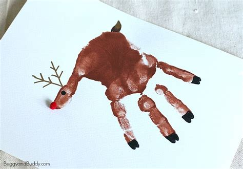childrenss reindeer christmas crafts images handprint reindeer ornament craft for buggy and buddy