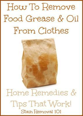 remove grease from upholstery how to remove grease from clothes home remedies tips