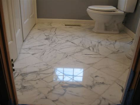 Marble Tile Bathroom Floor Bathroom Marble Floor Restoration In Boxborough Ma