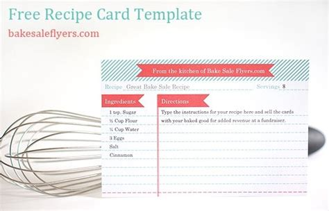 free alzheimer recipe card template free recipe card template you can type in your recipe in