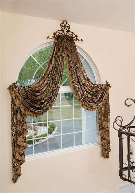 entryway window curtains arched window drapes crowning glory designer s secrets