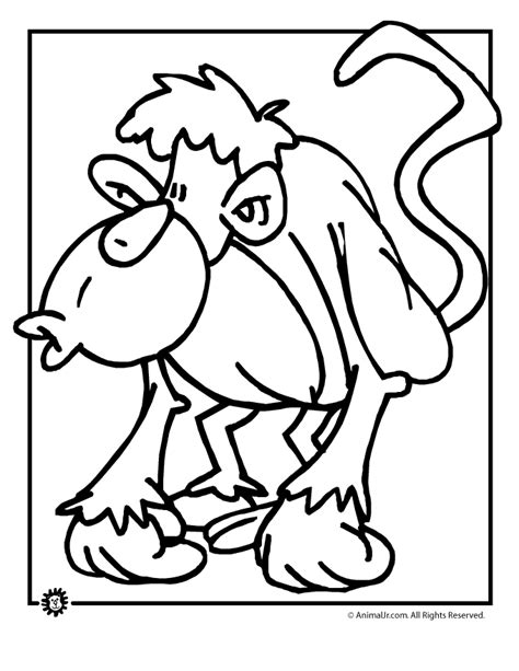 cartoon monkey coloring picture cartoon monkey coloring