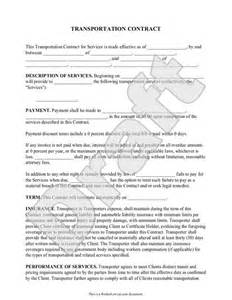 Software As A Service Contract Template by Transportation Contract Agreement Form With Sle