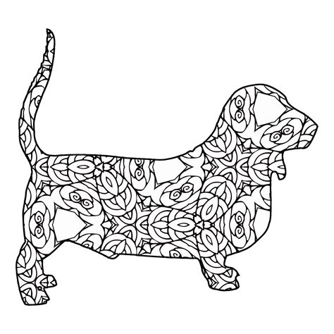 basset hound coloring pages