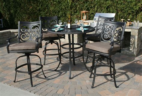 Cast Aluminum Patio Furniture Sets Bar Height Patio Furniture