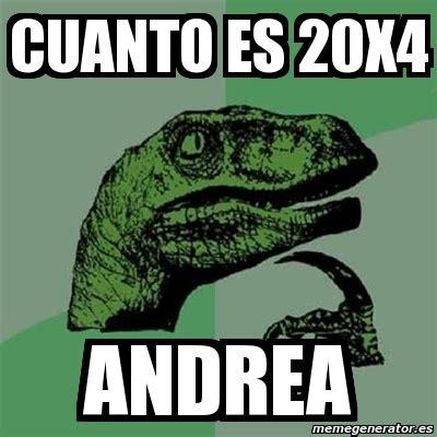 Cuanto Meme - meme filosoraptor cuanto es 20x4 andrea 11755945