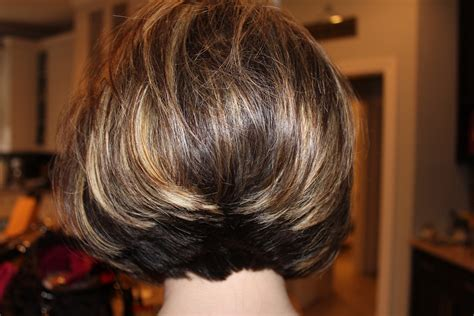wavey bob from back stacked bob back view hairstyles ideas intended for