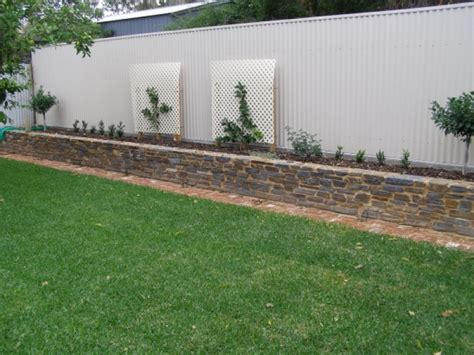 fences and retaining walls authentic