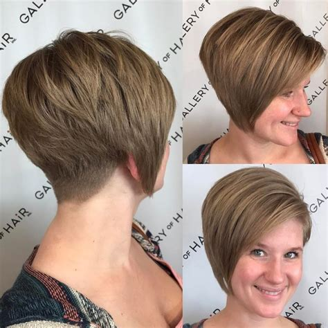 hairstyles with bangs aand tapered sides tapered nape bob haircut haircuts models ideas