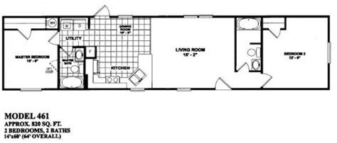 2 bedroom single wide floor plans 2 bedroom 2 bath single wide mobile home floor plans