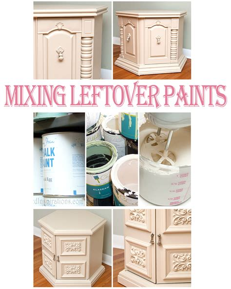 mixing leftover paints creating custom colors for small projects salvaged inspirations