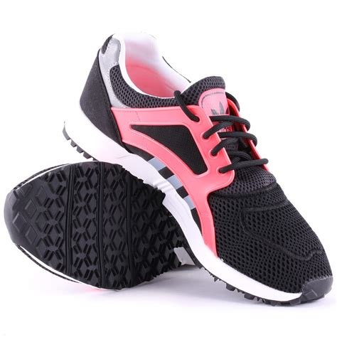 adidas racer lite em w shoes black purple white adidas racer lite w womens synthetic mesh trainers in