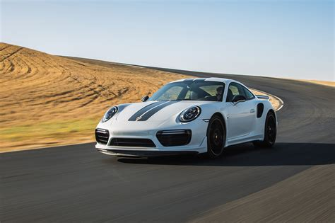 porsche 911 front view first laps 2018 porsche 911 turbo s exclusive series