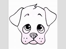 How to Draw a Puppy Face - Adorable Puppy Drawing Lesson ... Easy Dog Face Drawing