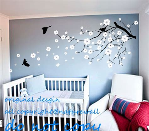 baby bedroom wall art vinyl wall decals cherry blossom tree decals baby nursery