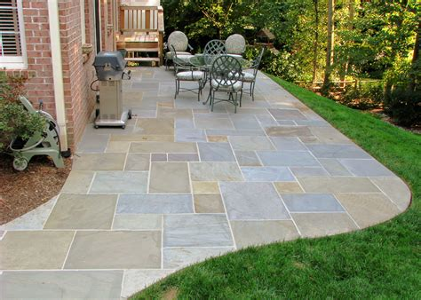 backyard flagstone patios