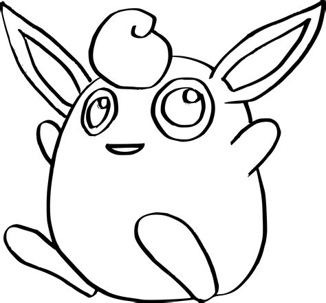 coloring images wigglytuff coloring page