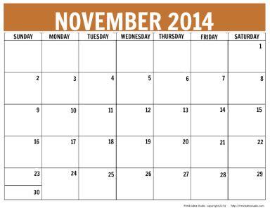 6 best images of preschool calendar printable november
