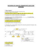 patterns inheritance quiz bio 123 molecular biology of inheritance quiz and answers